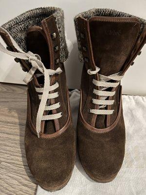 Chloé Buty na obcasie brązowy-ciemnobrązowy