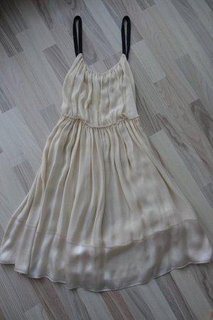 CHLOE Kleid, FR 40 (EUR 38), in creme, aus Seide, mit Pailetten-Trägern