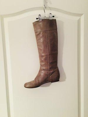 Chloe knielangem Stiefel -Flach - Grau/Kamel Farbe - 38