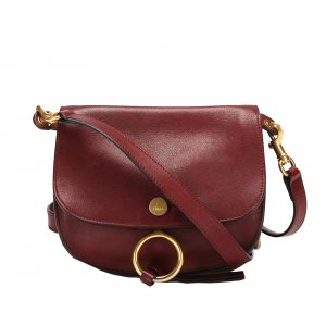Chloé Crossbody bag bordeaux leather