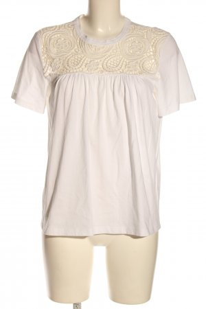 Chloé Short Sleeved Blouse natural white-cream casual look