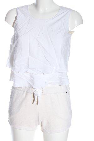 Chloé Kurzer Jumpsuit biały-w kolorze białej wełny W stylu casual