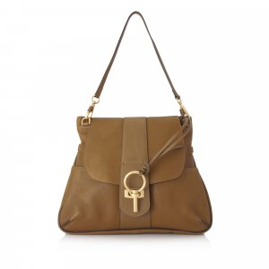 Chloe Large Lexa Leather Shoulder Bag