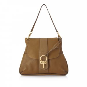 Chloe Large Lexa Leather Shoulder Bag