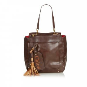 Chloé Tote dark brown leather