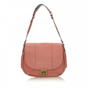 Chloe Leather Elsie Neo Folk Shoulder Bag
