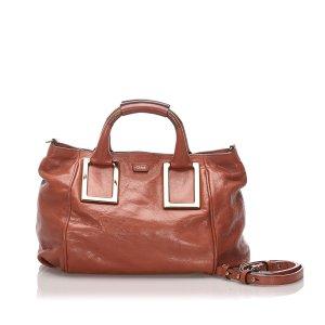 Chloé Sacoche brun cuir