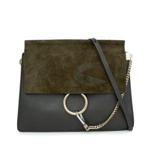 Chloé Crossbody bag dark green leather
