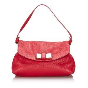 Chloe Leather Lily Bow Crossbody Bag