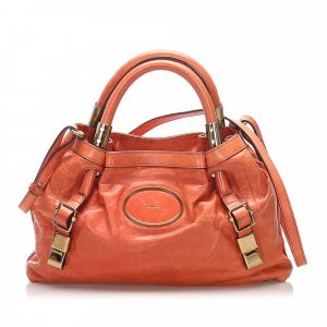 Chloé Sacoche orange cuir