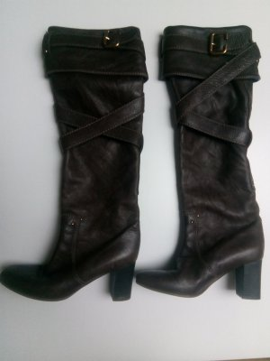 Chloé High Heel Boots sand brown-dark brown leather