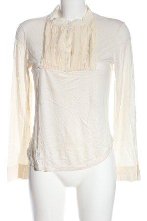 Chloé Koszulka z długim rękawem w kolorze białej wełny Elegancki