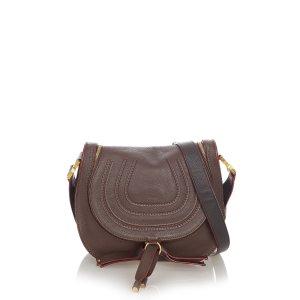 Chloé Sac bandoulière brun foncé cuir