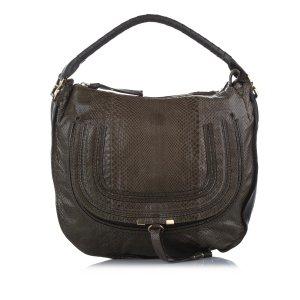 Chloe Marcie Python Leather Shoulder Bag