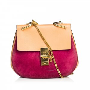Chloe Medium Suede Drew Crossbody Bag