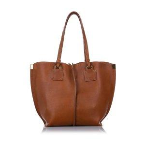 Chloé Bolso de compra marrón Cuero