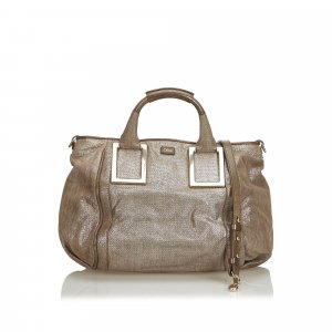 Chloe Metallic Leather Ethel Satchel