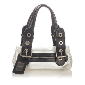 Chloé Shoulder Bag silver-colored leather