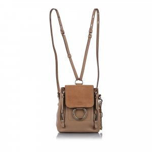 Chloe Mini Faye Leather Backpack