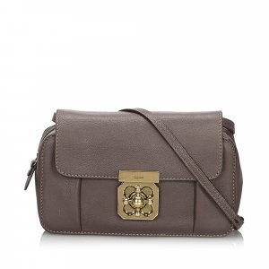 Chloe Mini Leather Elsie Crossbody Bag