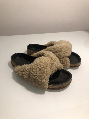 Chloé Mules Slides Shearling Fur Fell Sandalen Slipper Mytheresa