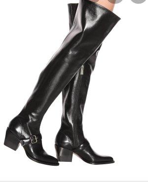 Chloé Buty nad kolano czarny Skóra
