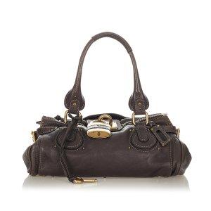 Chloé Handbag dark brown leather
