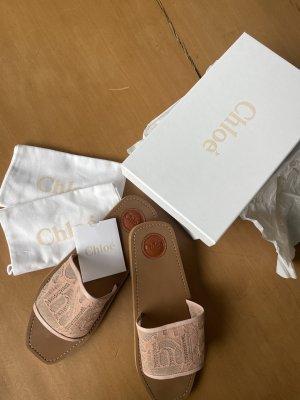 Chloé Sandalias cómodas rosa