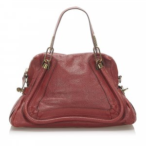 Chloé Satchel red leather