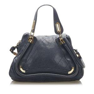 Chloé Satchel dark blue leather