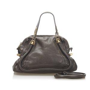Chloé Satchel dark brown leather