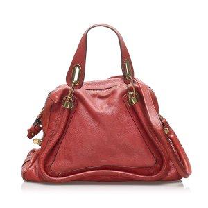 Chloé Sacoche rouge cuir