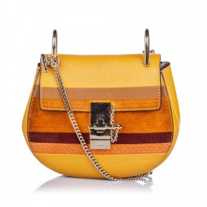 Chloe Patchwork Leather Drew Crossbody Bag