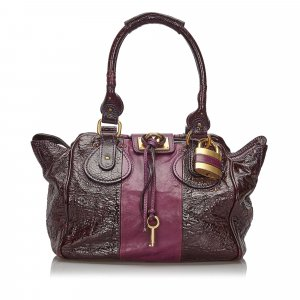 Chloe Patent Leather Paddington Handbag