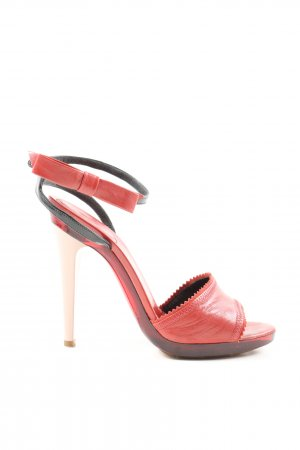 Chloé Plateau-Sandalen rot-schwarz Elegant