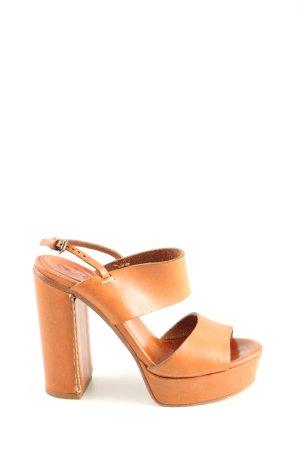 Chloé Sandales à plateforme orange clair style décontracté