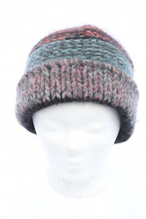 Chloé Knitted Hat blue-red cable stitch casual look