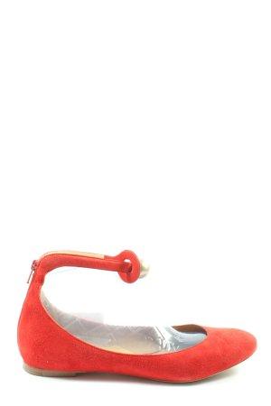 Chloé Ballerines à lacets rouge élégant
