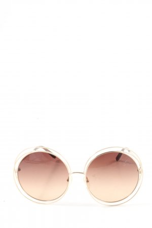 Chloé Round Sunglasses brown casual look