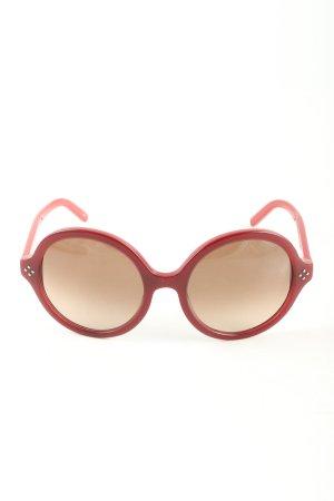 Chloé Occhiale da sole rotondo rosso stile professionale