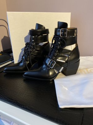 chloe k Cut out boots zwart Leer
