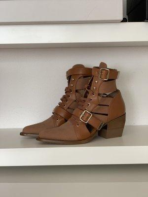 Chloé Rylee Boots in Gr 41, Beige/Camel