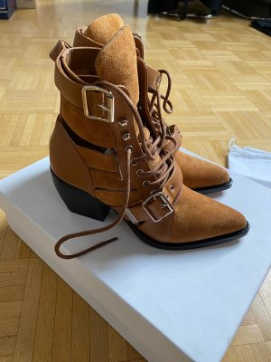 Chloé Low boot marron clair