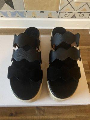Chloé Sandały na platformie czarny