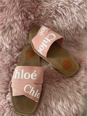 Chloé Sandale d'extérieur rose
