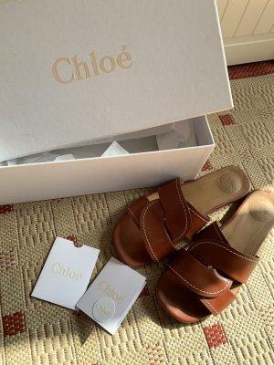 Chloé Roman Sandals brown-cognac-coloured