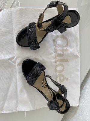 Chloé Platform High-Heeled Sandal black