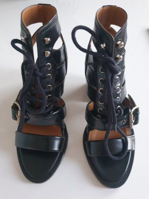 Chloé Patucos con cordones negro Cuero