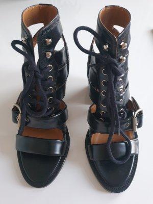 Chloé Lace-up Booties black