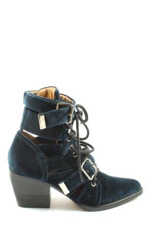 Chloé Schnür-Stiefeletten blau Casual-Look